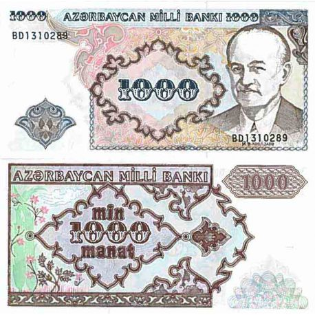 Banconote collezione Azerbaigian - PK N° 20 - 1000 Manat