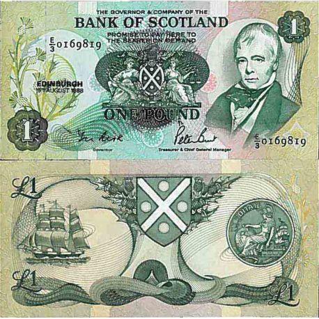 Banknote Sammlung Schottland - PK Nr. 111 - 1 pound