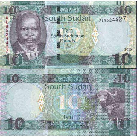 Billets de collection Billet de banque collection Soudan du Sud - PK N° 12 - 10 Pounds Billets du Sud-Soudan 12,00 €
