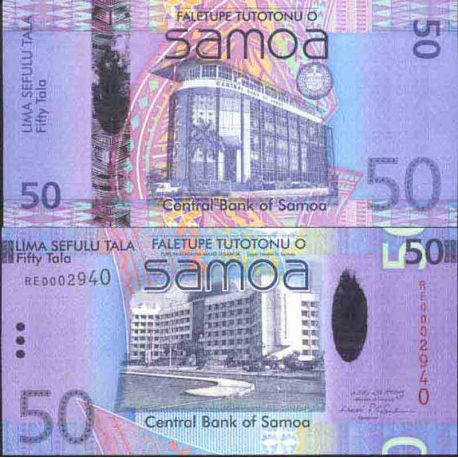Billet de banque collection Samoa - PK N° 41 - 50 Tala