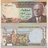 Billete de banco colección Túnez - PK N° 66 - 0,5 Dinares