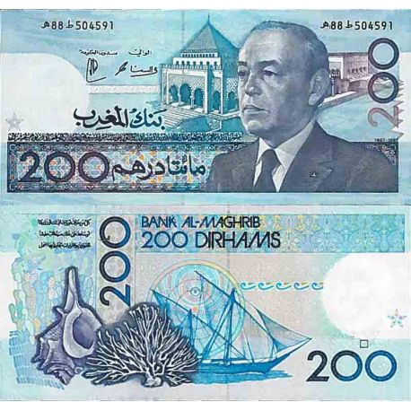 Billet de banque collection Maroc - PK N° 66 - 200 Dirhams