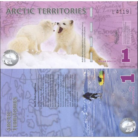 Banknote collection Arctic/the Antarctic - Pick N° 901 - 1 Dollars