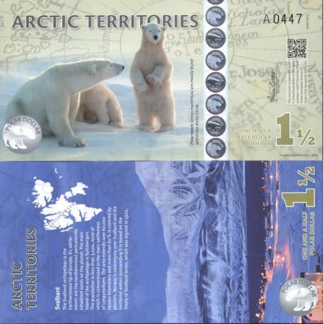 Banknote arktische/Antarktis Sammlung - PK Nr. 902 - 1,5 Dollar