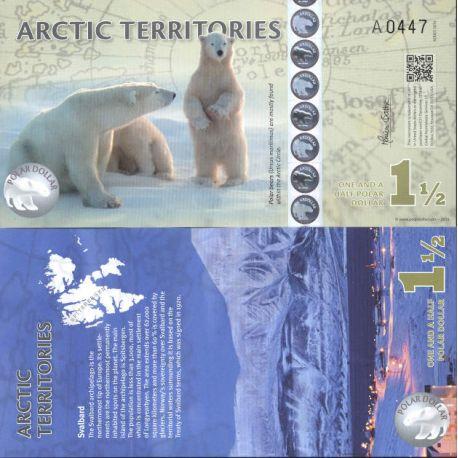 Billete de banco colección Ártica/la Antártida - PK N° 902 - 1,5 Dólares