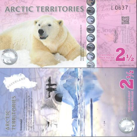 Banknote collection Arctic/the Antarctic - Pick N° 904 - 2.5 Dollars