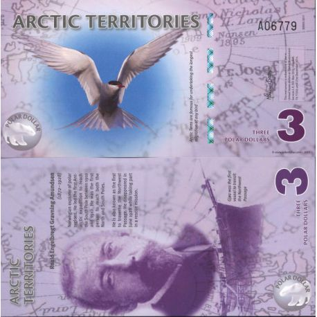 Billet de banque collection Arctique / Antarctique - PK N° 905 - 3 Dollars