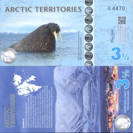 Billet de banque collection Arctique / Antarctique - PK N° 906 - 3,5 Dollars
