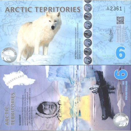 Billet de banque collection Arctique / Antarctique - PK N° 908 - 6 Dollars