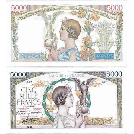 Banknote Sammlung Frankreich - PK Nr. 91 - 5000 Francs