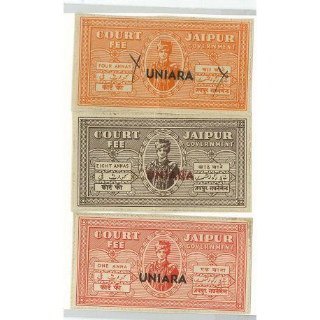 Uniara - 3 verschiedene Briefmarken