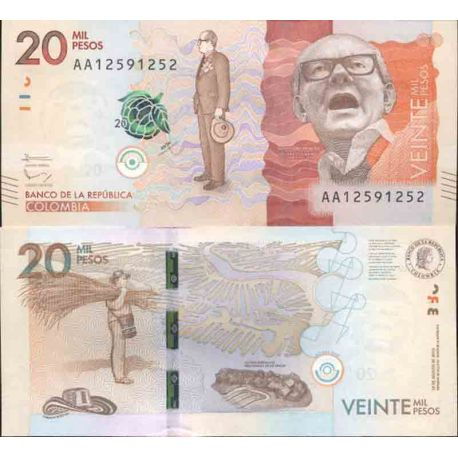 Banknote Colombia collection - Pick N° 999 - 20,000 Pesos