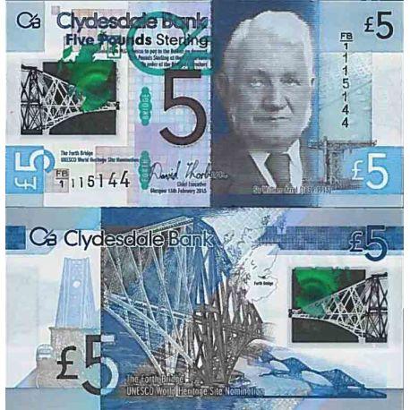 Banconote collezione Scozia - PK N° 999 - 5 libro
