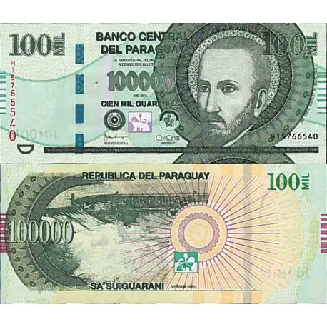 Banknote Paraguay collection - Pick N° 233 - 100000 Guaranies