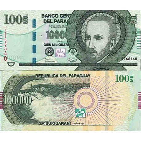 Billet de banque collection Paraguay - PK N° 233 - 100000 Guaranies