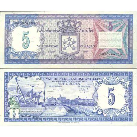 Banknote collection Dutch West Indies - Pick N° 15 - 5 Gulden