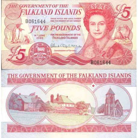 Banknote Falkland collection - Pick N° 17 - 5 Dollars