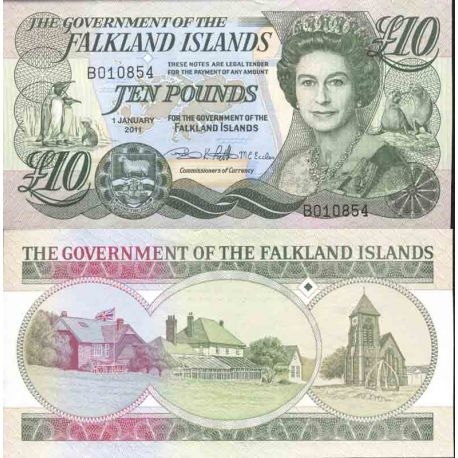 Banknote Falkland collection - Pick N° 14 - 10 Dollars