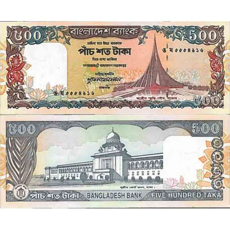 Billets de collection Billet de banque collection Bangladesh - PK N° 34 - 500 Taka Billets du Bangladesh 34,00 €