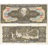Billet de banque collection Bresil - PK N° 158 - 5 Cruzeiros