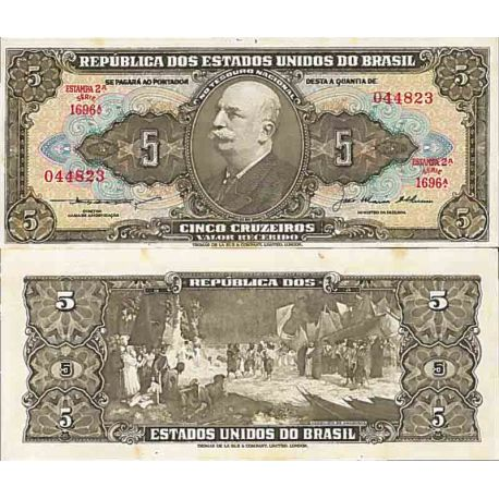 Billet de banque collection Bresil - PK N° 158 - 5 Real