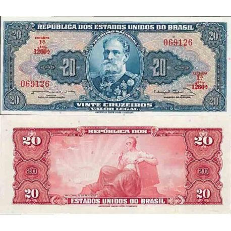Billet de banque collection Bresil - PK N° 168 - 20 Real