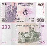 Banknote Sammlung der Kongo - PK Nr. 99 - 200 Francs