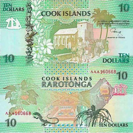 Banknote Sammlung die Cook Inseln - PK Nr. 8 - 10 Dollar