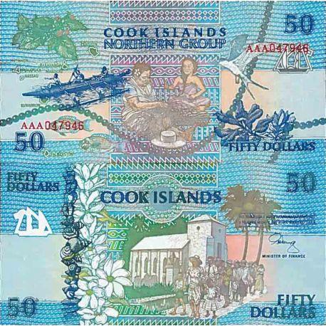 Banknote Sammlung die Cook Inseln - PK Nr. 10 - 50 Dollar