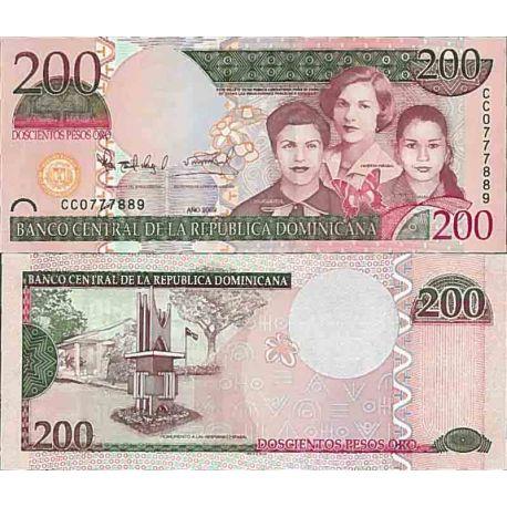 Billets de collection Billet de banque collection Dominicaine Repu. - PK N° 178 - 200 Pesos Billets de République Dominicaine...