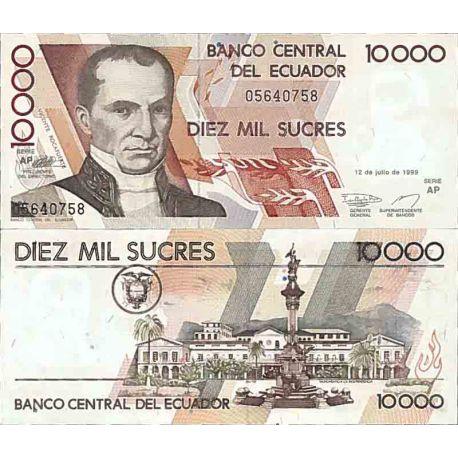 Banconote collezione equador - PK N° 127 - 10000 zuccheri