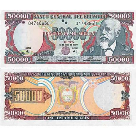 Billet de banque collection Equateur - PK N° 130 - 50000 Sucres