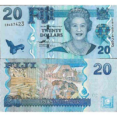 Billets de collection Billet de banque collection Fidji - PK N° 112 - 20 Dollars Billets des Fidji 34,00 €