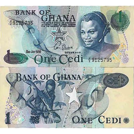 Billet de banque collection Ghana - PK N° 13 - 1 Cedis
