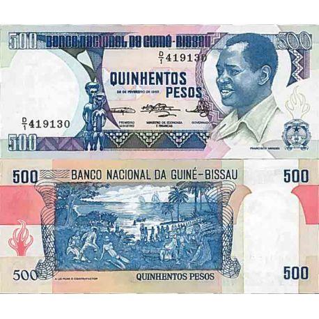 Billete de banco colección Guinea Bissau - PK N° 7 - 500 Pesos