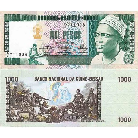 Billets de collection Billet de banque collection Guinee Bissau - PK N° 8 - 1000 Pesos Billets de Guinée Bissau 22,00 €