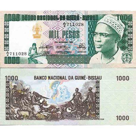 Billete de banco colección Guinea Bissau - PK N° 8 - 1000 Pesos