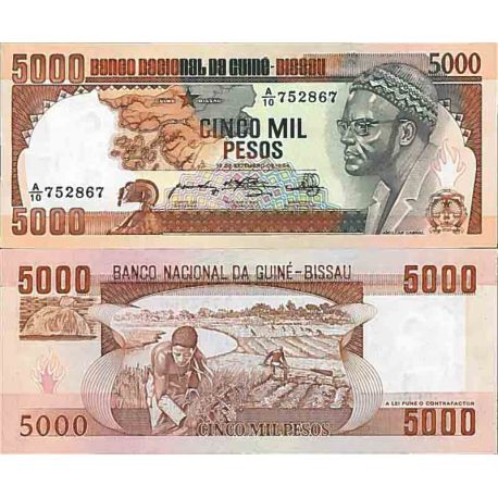 Billets de collection Billet de banque collection Guinee Bissau - PK N° 9 - 5000 Pesos Billets de Guinée Bissau 29,00 €