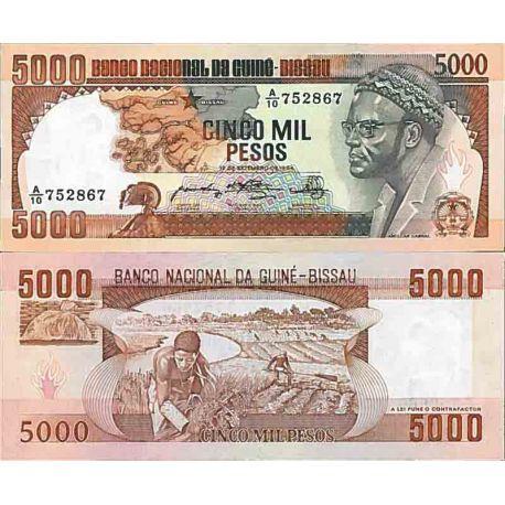 Billete de banco colección Guinea Bissau - PK N° 9 - 5000 Pesos