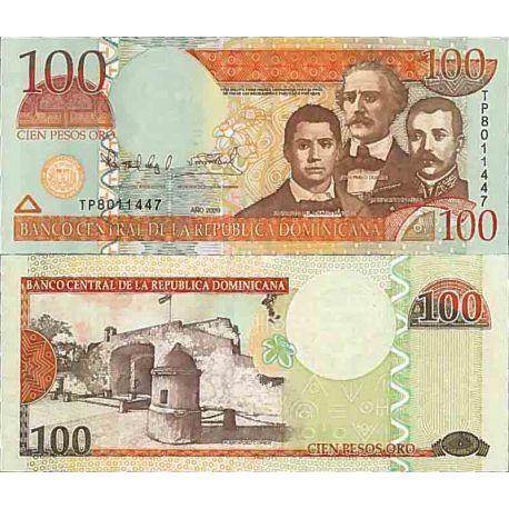 Billets de collection Billet de banque collection Dominicaine Repu. - PK N° 177 - 100 Pesos Billets de République Dominicaine...