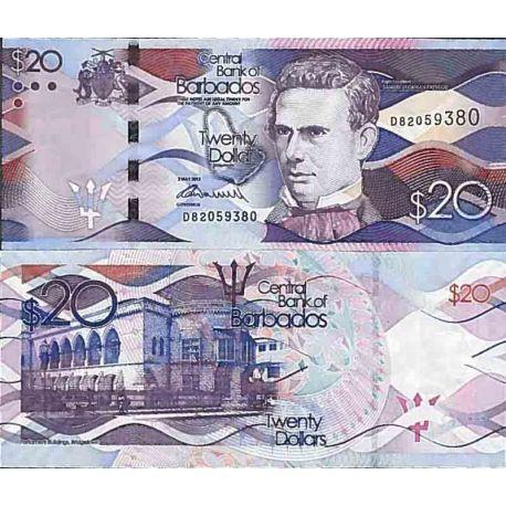 Banknote Barbados collection - Pick N° 76 - 20 Dollars