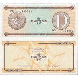 Billet de banque collection Cuba - PK N° 34FX - 5 Pesos
