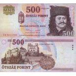 Billet de banque collection Hongrie - PK N° 196 - 500 Forint
