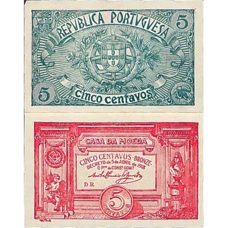 Banconote collezione Portogallo - PK N° 98 - 5 escudos