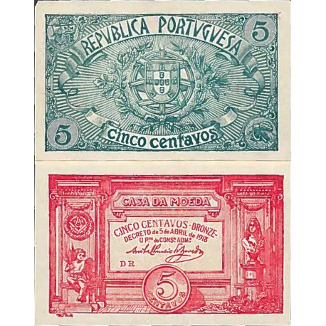 Billet de banque collection Portugal - PK N° 98 - 5 Escudos