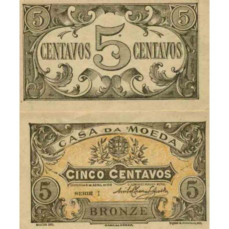 Banconote collezione Portogallo - PK N° 99 - 5 escudos