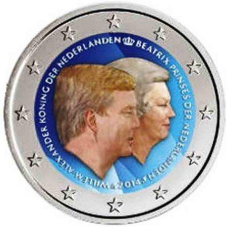 Die Niederlande - 2 Euro Gedächtnis- 2014 in Farbe