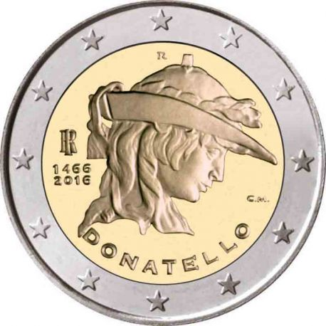 Italia - 2 euro commemorativa 2016 Donatello
