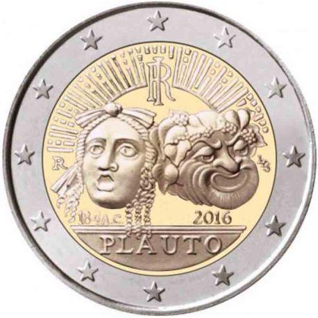 Italia - 2 euro conmemorativa 2016 de Plauto