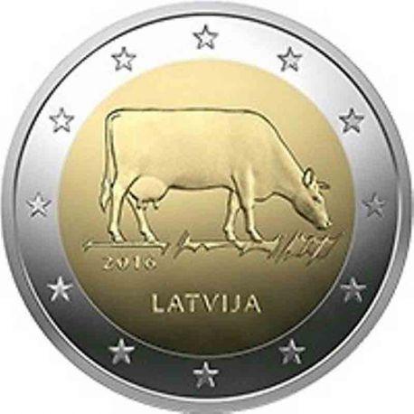 Lettonia - 2 euro commemorativa 2016 mucca marrone